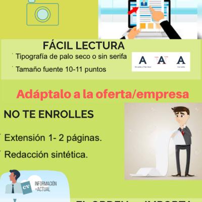 6. DISEÑO DE UN CV COMPETITIVO - Infografía
